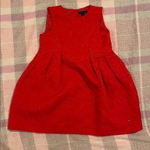 Tommy Hilfiger Girls 4t Formal Red Dress